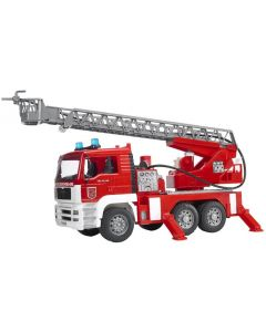 Bruder MAN Feuerwehr mit Drehleiter 02771