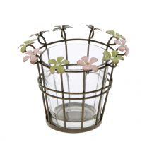 Teelichthalter Blume 8x11x11cm