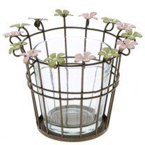 Teelichthalter Blume 9,5x13x13cm