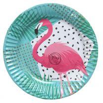 Pappteller Flamingo 18,5cm (6 Stück)