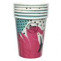 Pappbecher Flamingo (6 Stück)