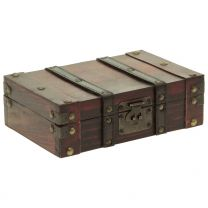 Holzbox braun eckig 23x16x8cm