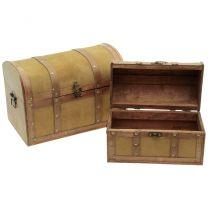 Holzbox hellbraun 36x16x20cm