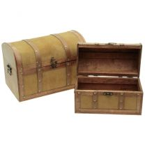 Holzbox hellbraun 38x23x26cm