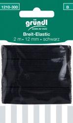 Breit-Elastic schwarz (2mx12mm)