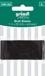 Breit-Elastic schwarz (1mx28mm)