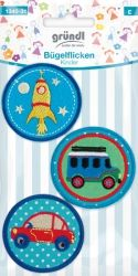 Bügelflicken Kinder Fahrzeuge