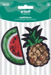 Applikation Aufbügler Melone/Ananas