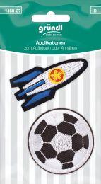Applikation Aufbügler Fußball/Raumschiff
