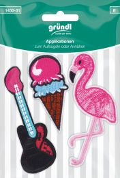 Applikation Aufbügler E-Gitarre/Eis/Flamingo