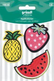 Applikation Aufbügler Melone/Erdbeere/Ananas