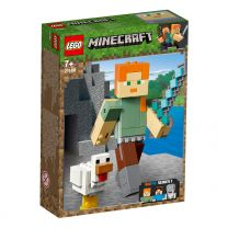 LEGO Minecraft BigFig Alex mit Huhn