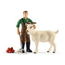 Schleich Bauer mit Ziege
