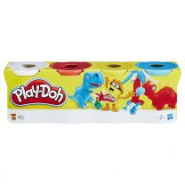 Hasbro Play-Doh 4er Pack blau, gelb, rot, weiß