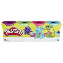Hasbro Play-Doh 4er Pack hellblau, hellgrün, pink und lila