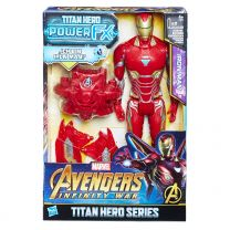 Hasbro Avengers Titan Hero Iron Man mit Power FX Pack
