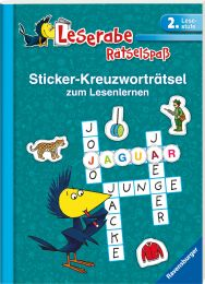 Ravensburger Sticker-Kreuzworträtsel zum Lesenlernen, türkis