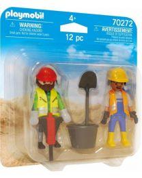 Playmobil Duo Packs Zwei Bauarbeiter