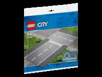 LEGO City Gerade und T-Kreuzung