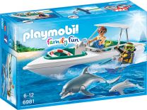 Playmobil Family Fun Tauchausflug mit Sportboot