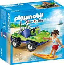 Playmobil Family Fun Surfer mit Strandbuggy