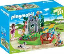 Playmobil City Life SuperSet Familiengarten