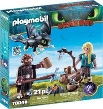 Playmobil Dragons Hicks und Astrid mit Babydrachen