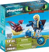 Playmobil Dragons Astrid mit Fluganzug und Hobgobbler