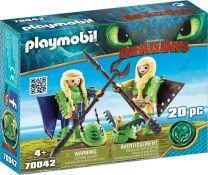 Playmobil Dragons Raffnuss und Taffnuss mit Fluganzug