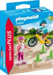 Playmobil Special Plus Kinder mit Skates und BMX