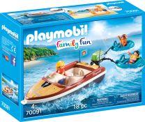 Playmobil Family Fun Sportboot mit Fun-Reifen
