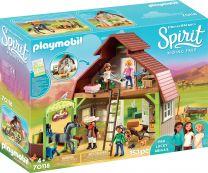 Playmobil Spirit Stall mit Lucky, Pru & Abigail