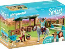 Playmobil Spirit Reitplatz mit Lucky & Javier