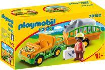 Playmobil 1.2.3 Zoofahrzeug mit Nashorn