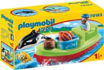 Playmobil 1.2.3 Seemann mit Fischerboot