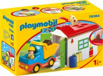 Playmobil 1.2.3 LKW mit Sortiergarage