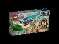 LEGO Jurassic World Dilophosaurus auf der Flucht