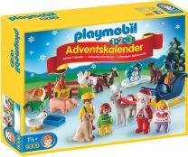 Playmobil 1.2.3 Adventskalender Weihnacht auf dem Bauernhof