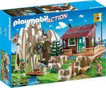 Playmobil Action Kletterfels mit Berghütte