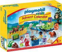 Playmobil 1.2.3. Adventskalender Waldweihnacht der Tiere
