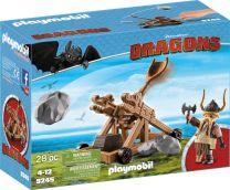 Playmobil Dragons Grobian mit Katapult