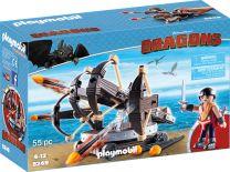 Playmobil Dragons Eret mit 4-Schuss-Feuer-Balliste