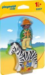 Playmobil 1.2.3 Ranger mit Zebra