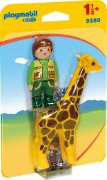 Playmobil 1.2.3 Tierpfleger mit Giraffe