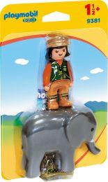 Playmobil 1.2.3 Tierpflegerin mit Elefant