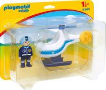 Playmobil 1.2.3 Polizeihubschrauber