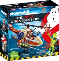 Playmobil The Real Ghostbusters Venkman mit Helikopter