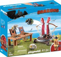 Playmobil Dragons Grobian mit Schafschleuder