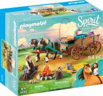 Playmobil Spirit Vater Jim mit Kutsche