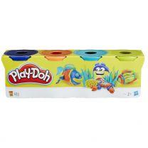 Hasbro Play-Doh 4er Pack blau, orange, türkis, gelb